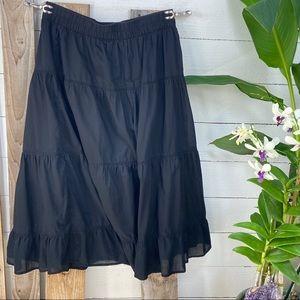 Old Navy PreLoved Black Tiered Full Skirt